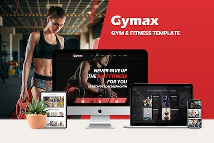Gymax - Gym, Fitness Template Kit