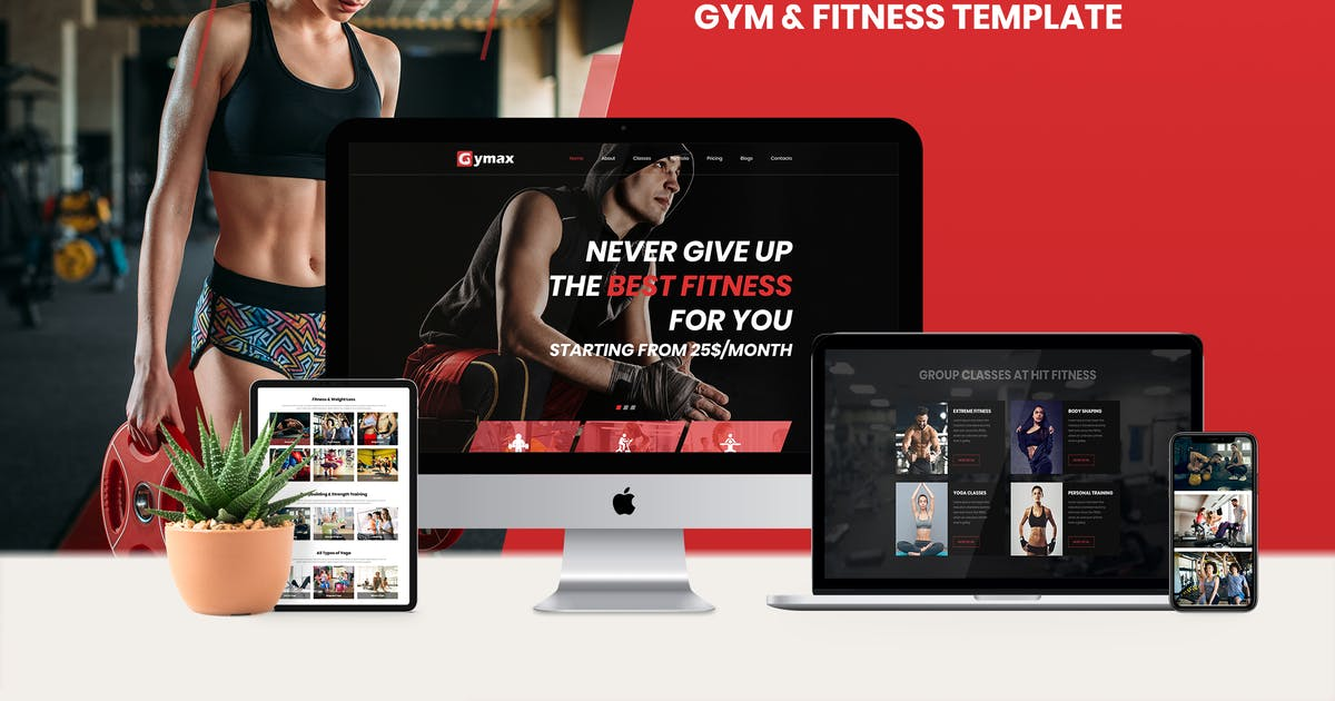 Download Gymax - Gym, Fitness Template Kit by ArrowHiTech