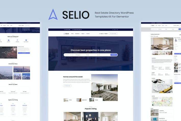 Thumbnail for Selio - Real Estate Directory Template Kit