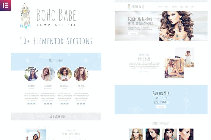 Thumbnail for Boho Babe - Elementor Template Kit