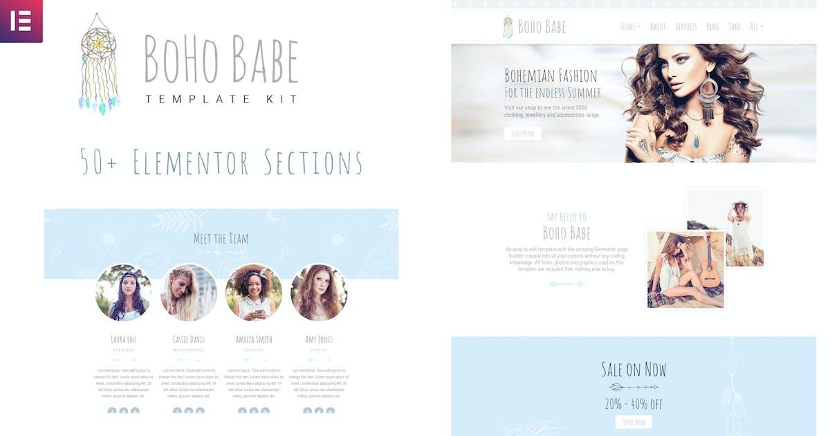 Download Boho Babe - Elementor Template Kit by dtbaker