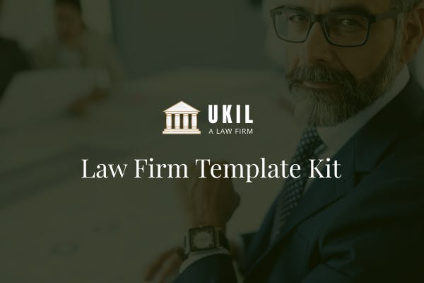 Thumbnail for Ukil - Law Firm Template Kit