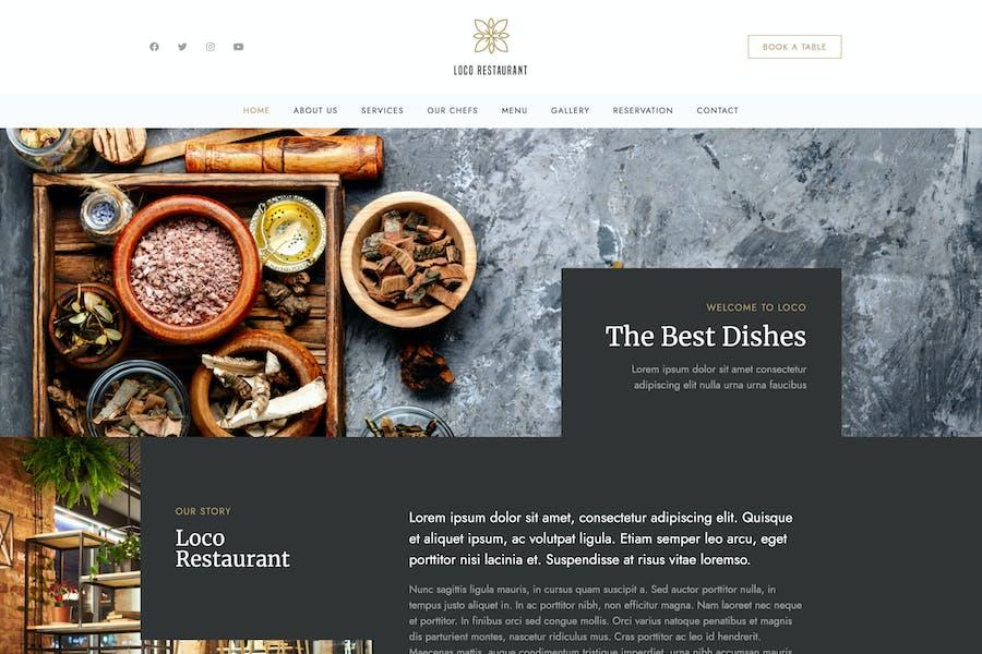 Loco Restaurant - Vorlage Kit