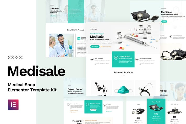 Cover Image For Medisale - Medical Shop Elementor Template Kit