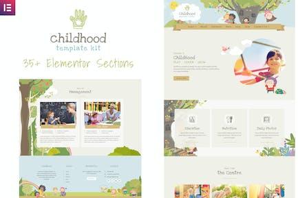 Niños Niños - Centro de Cuidado Infantil Elementor Template Kit