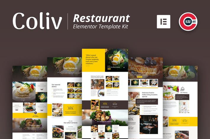 Thumbnail for Coliv - Restaurant Template Kit
