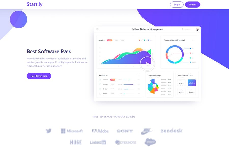Startly Template Kit for Startups, SaaS & Software