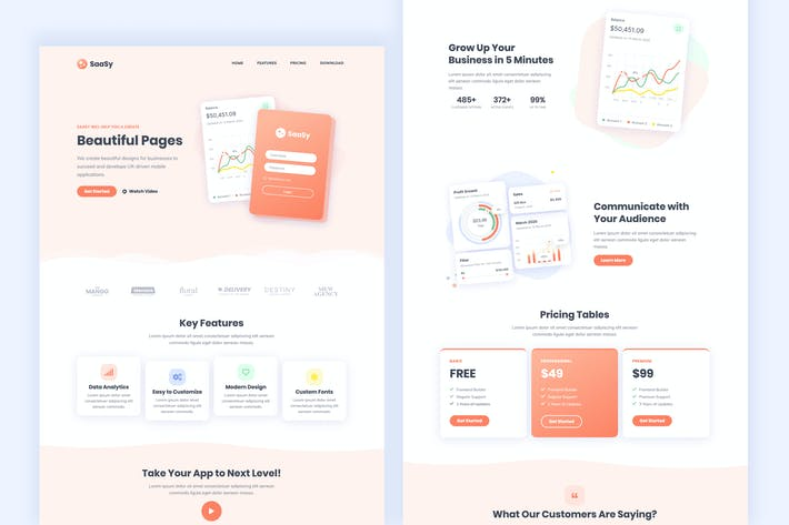 Thumbnail for SaaSy - SaaS & App Landing Page Template Kit