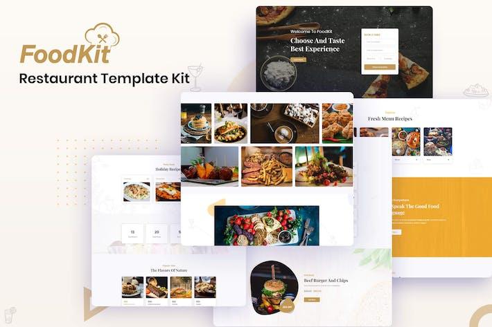 Thumbnail for FoodKit - Restaurant Template Kit