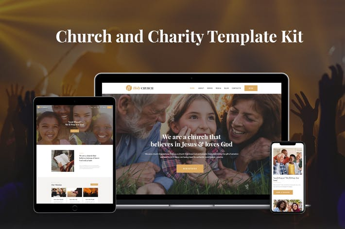 Thumbnail for Holy - Church & Charity Template Kit