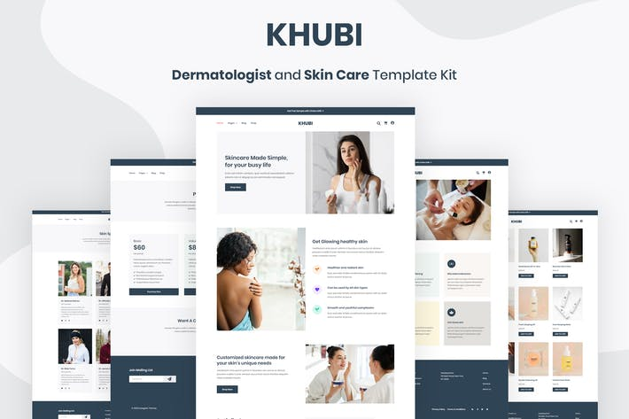 Thumbnail for Khubi - Dermatologist & Skin Care Template Kit