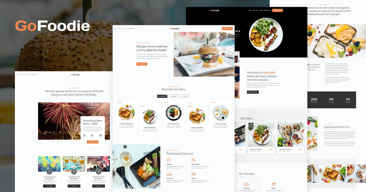 Download GoFoodie - A premium template kits for Elementor by kaththeme