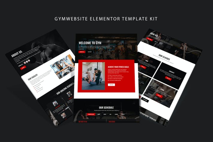 Thumbnail for Gymsite - Gym Elementor Template Kit