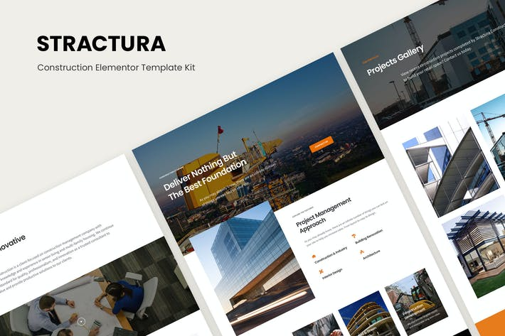 Thumbnail for Stractura - Construction Elementor Template Kit