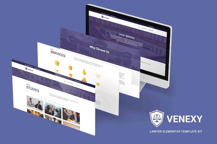 Venexy - Anwalt Elementor Kit