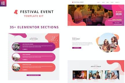 Festival Events - Elementor Template Kit