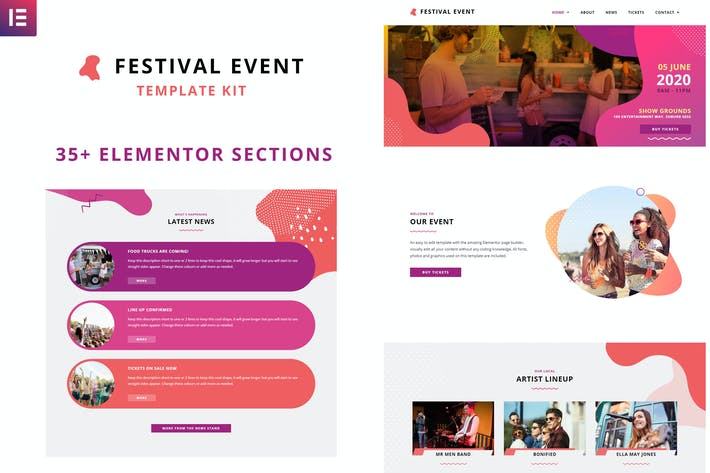 Thumbnail for Festival Events - Elementor Template Kit