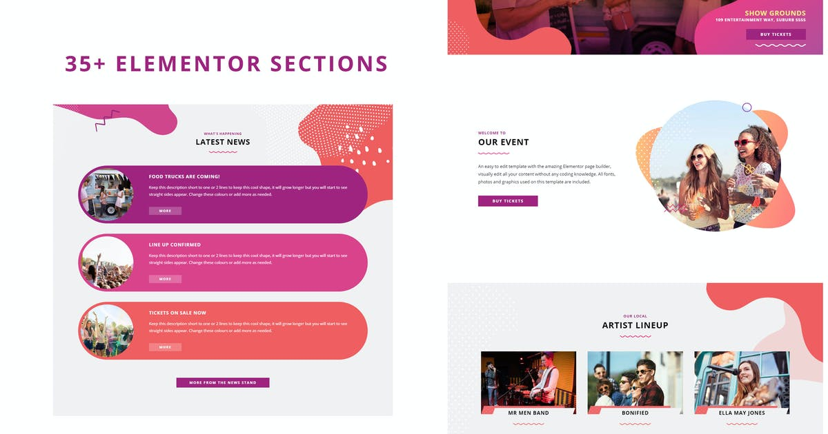 Download Festival Events - Elementor Template Kit by dtbaker