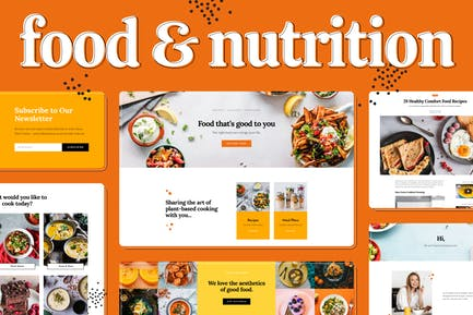 Food & Nutrition Elementor Template Kit