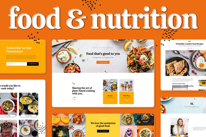 Thumbnail for Food & Nutrition Elementor Template Kit