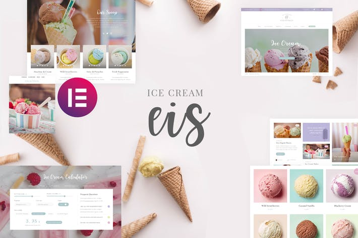 Thumbnail for Eis - Ice Cream Shop Template Kit