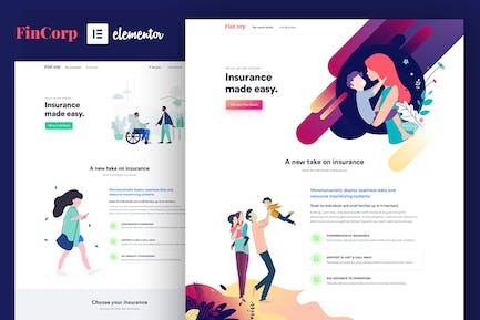 FinCorp - Insurance & Marketing Elementor Template Kit