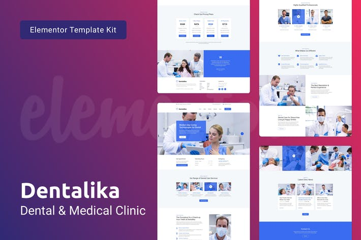 Thumbnail for Dentalika — Dental Clinic & Medical Health Elementor Template Kit