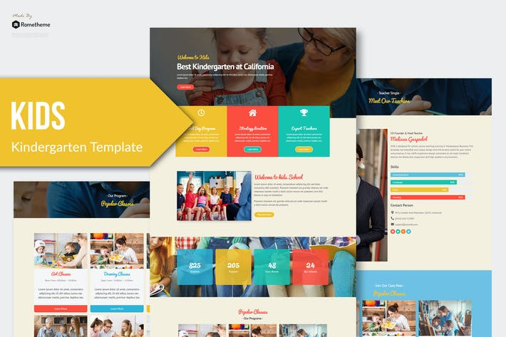Thumbnail for Kids - Kindergarten & Child Care Elementor Template Kit