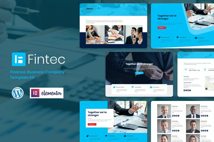 Thumbnail for Fintec - Finance, Business Company Elementor Template Kit