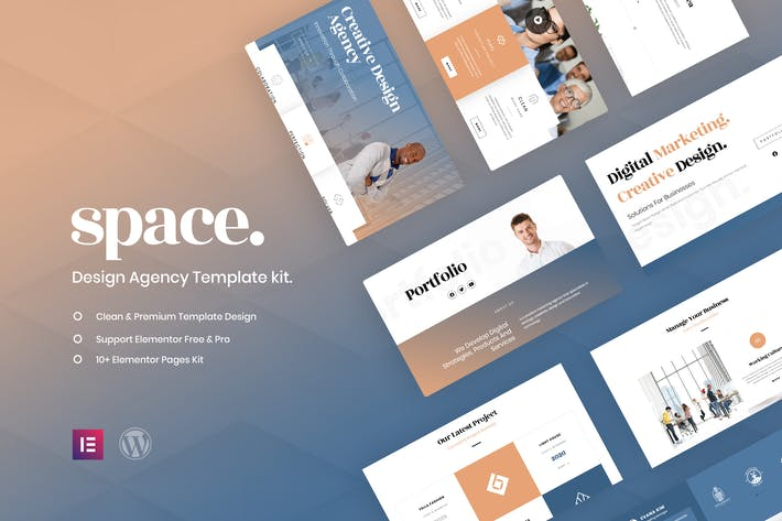 Thumbnail for Space - Creative Agency Template Kit