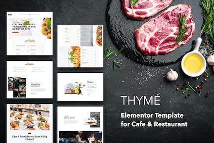 Thymian - Restaurant & Cafe Elementor Template Kit