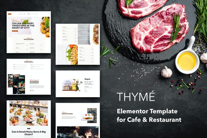 Thumbnail for Thyme - Restaurant & Cafe Elementor Template Kit