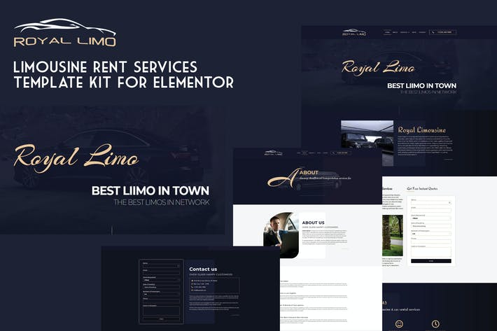 Thumbnail for Royal Limo - Limousine Rent Services Template Kit
