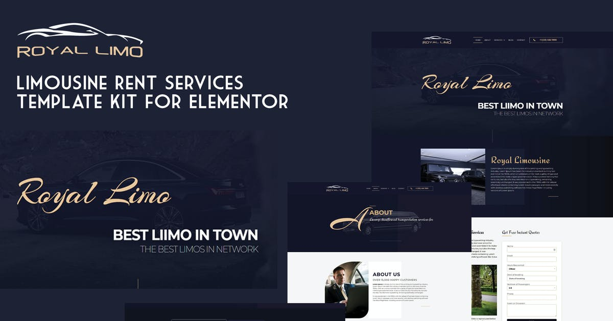 Download Royal Limo - Limousine Rent Services Template Kit by magneticwp