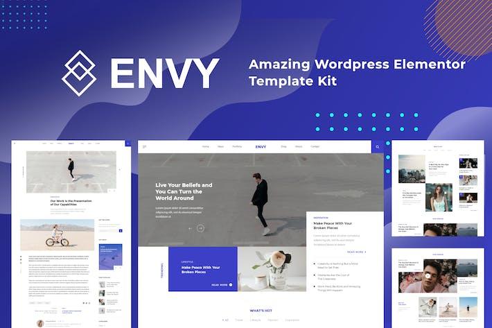 Envy - Elementor Plantilla Kit Revista de Noticias