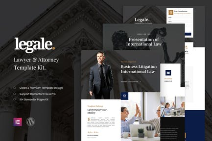 Legale - Lawyer & Law Firm Template Kit