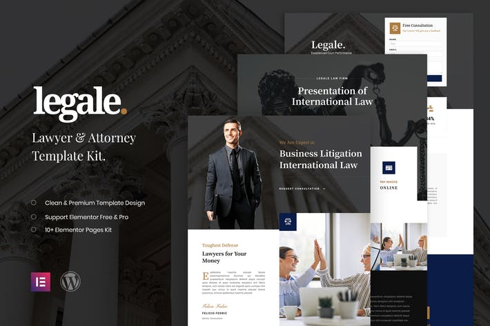 Thumbnail for Legale - Lawyer & Law Firm Template Kit