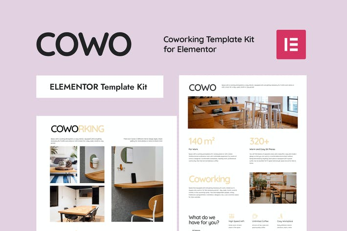 Thumbnail for COWO - Coworking Elementor Template Kit
