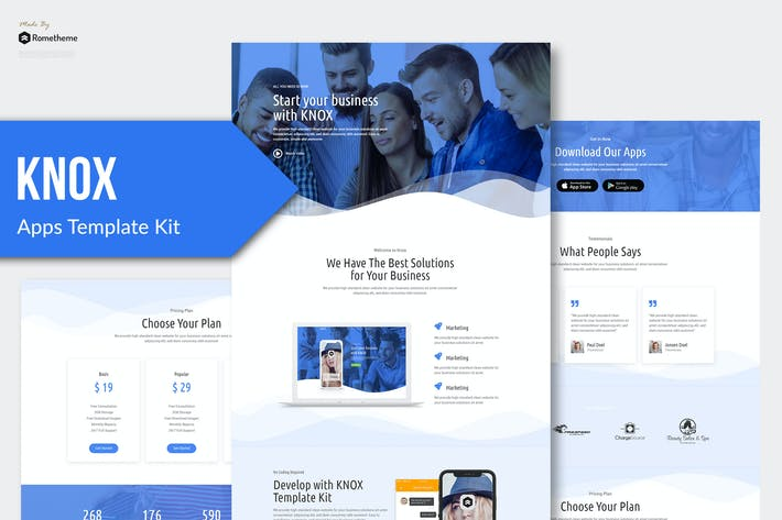 Thumbnail for Knox - Technology & Apps Template Kit