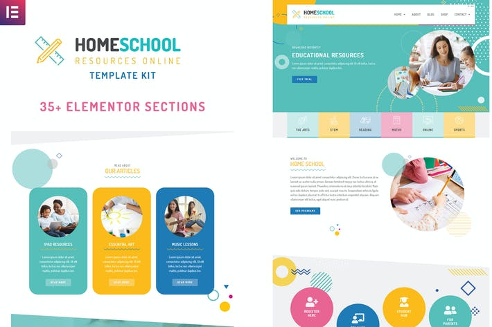 Thumbnail for Home School - Elementor Template Kit