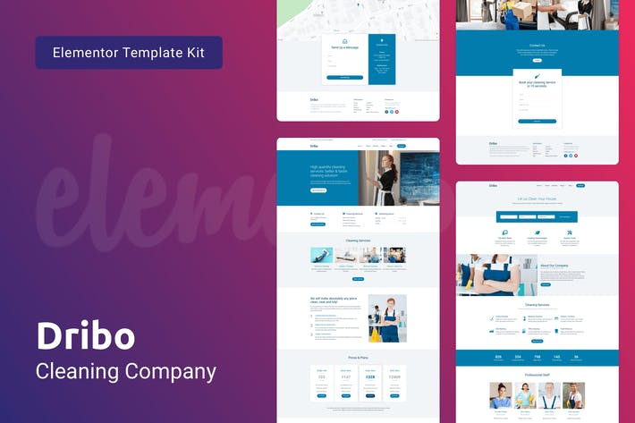 Thumbnail for Dribo — Cleaning Company Template Kit for Elementor
