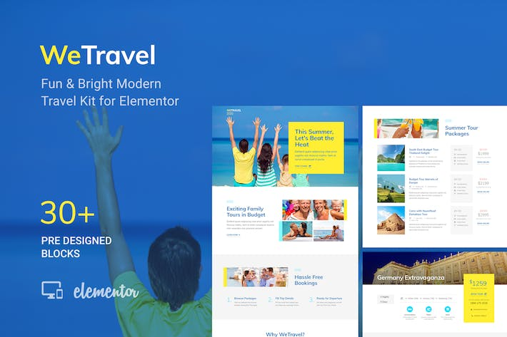 Thumbnail for WeTravel - Travel and Tourism Template Kit