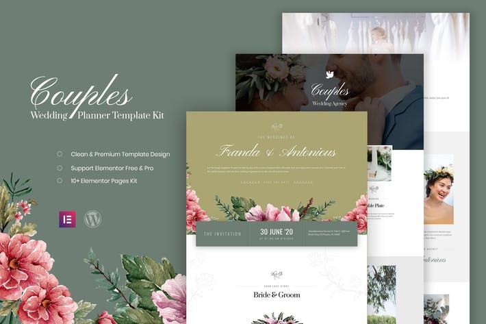 Couples Wedding Planner Template Kit By Vectorclans On Envato Elements