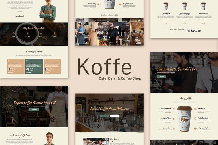 Thumbnail for Koffe - Cafe & Coffee Shop Template Kit