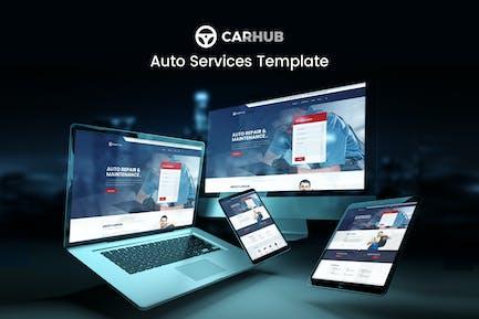 Carhub - Kit de Plantilla de servicios para automóviles
