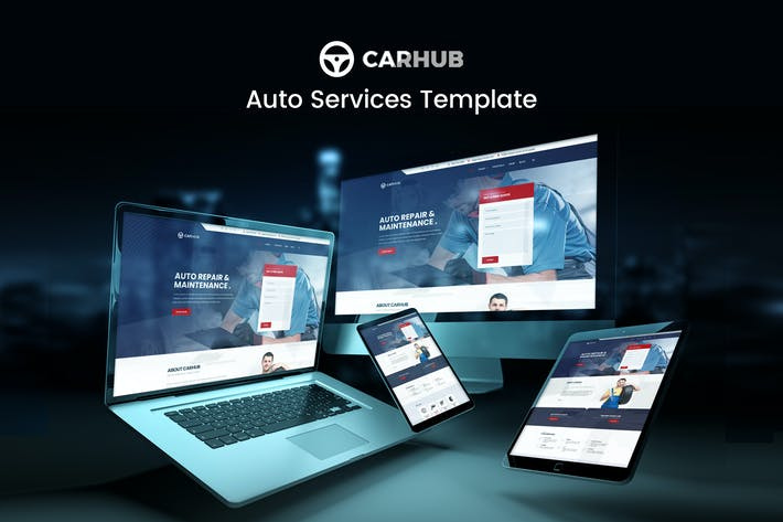 Thumbnail for Carhub - Auto Services Template Kit