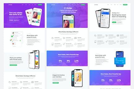 NextApp - App Landing Page Template Kit