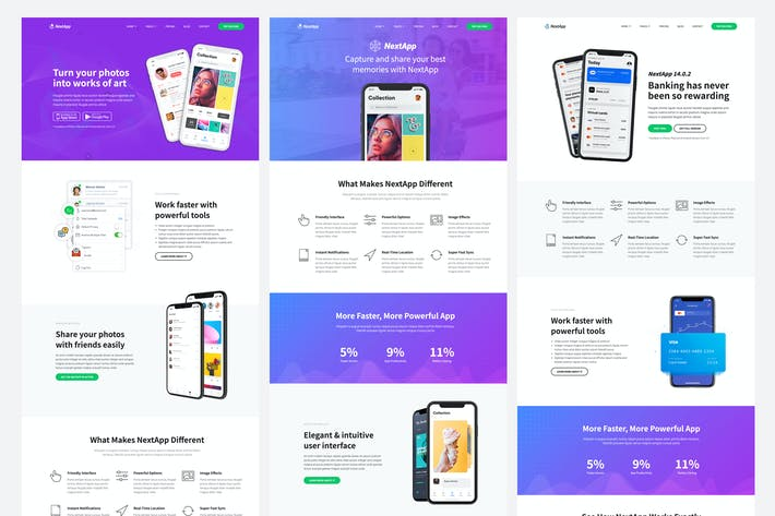 Thumbnail for NextApp - App Landing Page Template Kit