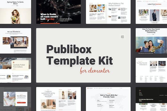 Publibox - Blog, Noticias y Revista Elementor Plantilla Kit