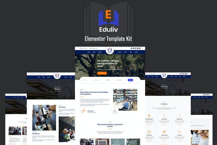 Thumbnail for Eduliv - Education Elementor Template Kit